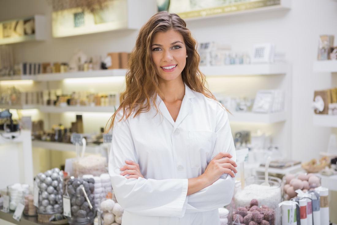 Portrait of smiling beautician